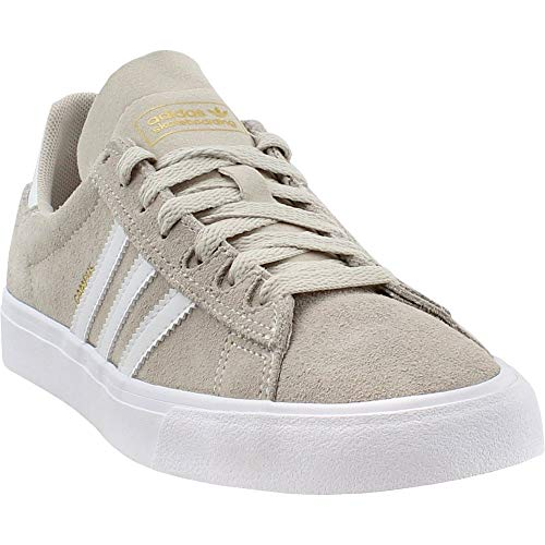 (adidas Skateboarding Men's Campus Vulc II Chalk White/Footwear White/Gold Metallic 12 D US D (M))