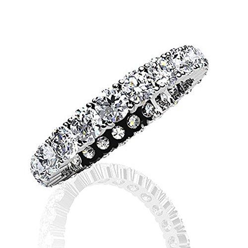 Or blanc 14K Amour éternel à quatre branches Diamant Bague éternité