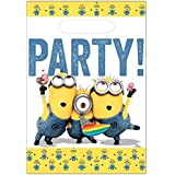 Amscan 999750 Minions Plastic Party Bags