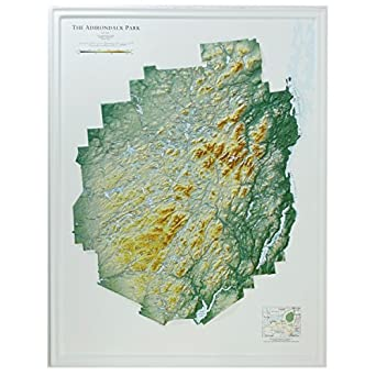 Amazon Hubbard Scientific Raised Relief Map 442 Adirondack