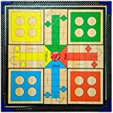 Samaira Sunshine Ludo, Snake Ladder, Tambola, Business Wooden Board Game 2 In 1 Game (Ludo & Snake Ladder)