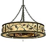 Meyda Tiffany 136747 Oak Leaf & Acorn Chandel-Air - 44.5