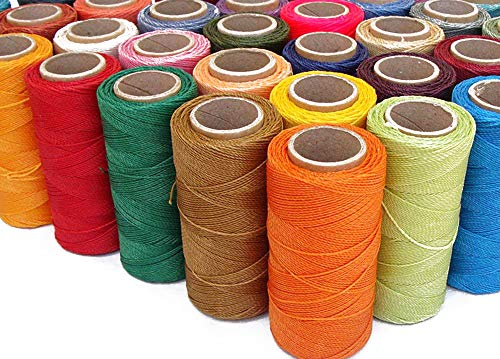 (1mm Waxed Polyester Twisted Linhasita Cord Macrame Bracelet Thread Artisan String (Assorted 10 X 180yards Spool))