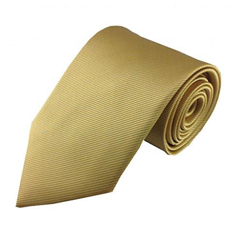 Mens Necktie Natural Gold Tonal Stripe High Fashion Design Necktie