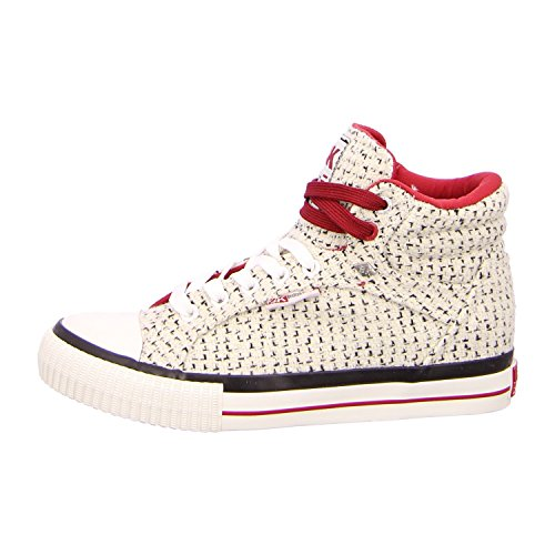 knitted femme British knights chaussures textile blanc pour dee xXtgqtH