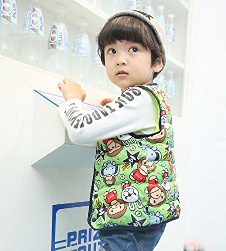 Kids Jacket Lemonkids;® Vest Outfits Wadded green monkey Cartoon Children Lightweight Warm 0qrq5B