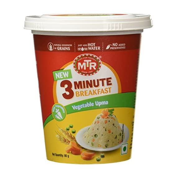 MTR 3 Minute Breakfast Vegetable Upma Cup, 80g