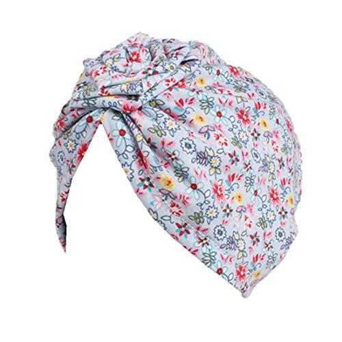 Vintage Girls Cap - Qhome Girls Flower Turban Hat Kids Vintage Floral Cotton Beanie Headband Children Caps Baby Bandana
