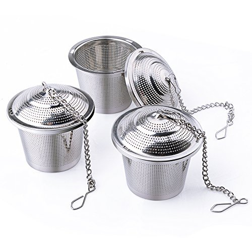 Tea Infuser, BestElec 3-Pack Tea Filter-Stainless Steel-Tea Strainer for Loose Leaf Tea, Teapot & Tea Ball by BestElec