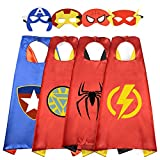 Tisy Birthday Presents Gifts for 3-12 Year Old Boys, Cartoon Super Hero Satin Capes Dress up for...