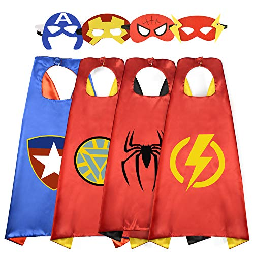 Roko Outdoor Toys for 3-10 Year Old Boys, Fun Cool Super Hero Capes Costumes for Kids Christmas Birthday Presents Gifts for 3-10 Year Old Boys RKUSSC04