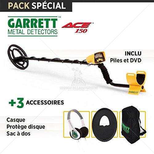 Detector de metales Garrett ACE 150: casco + Protège Disco + Mochila: Amazon.es: Jardín