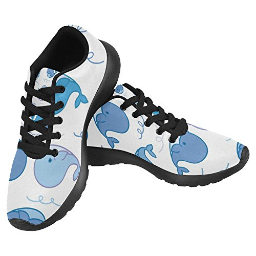 Interestprint Femmes Jogging Running Sneaker Léger Aller Facile À Pied Casual Confort Sportif Chaussures De Course Mignon Baleine Dessins Animés Multi 1
