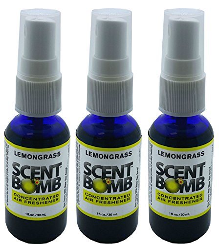 Lemongrass Scent - Scent Bomb Super Strong 100% Concentrated Air Freshener - 3 PACK (Lemongrass)