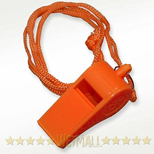12 plastic whistles lanyard emergency