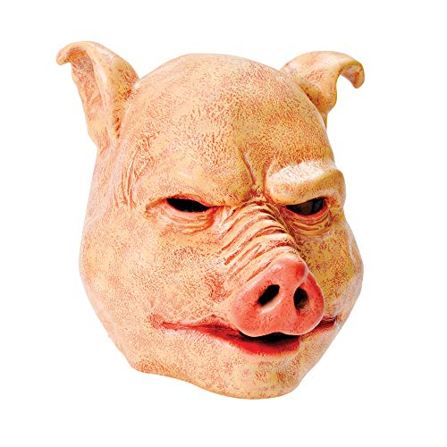 Mask Halloween Party Miami (Bristol Novelty Pig Latex Mask, One)