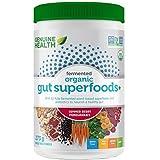 Genuine Health Fermented Organic Gut Superfoods+, Vegan Superfoods Powder, Summer Berry Pomegranate Flavour, 273g Tub, 23 Ser