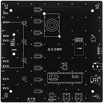 ShanShan Mu Verbesserte Version DIY WiFi APP 8x8x8 3D Light Cube Kit Rot Blau Grün LED MP3-Musik-Spektrum-Elektro-Kit mit 3W-Verstärker + 3W Lautsprecher