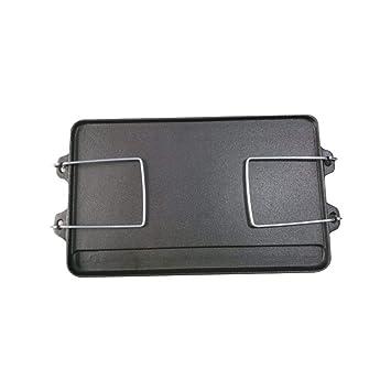 Placa de plancha rectangular de hierro fundido de doble cara ...