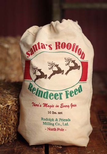 Factory Direct Craft Group of 4 Santa's Best Reindeer Feed Muslin Sack to Leave Treats for Santa's Reindeer or Use in Your Christmas Decorating