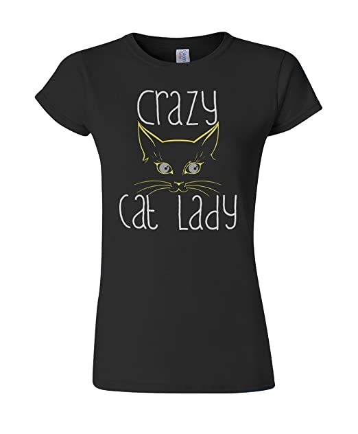 Crazy Cat Lady Funny Slogan Ladies Damen Fit T-Shirt  Amazon.de  Bekleidung 1557ad6b38