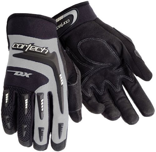 Cortech DX 2 Men's Textile Street Racing Motorcycle Gloves - Black/Silver / X-Large