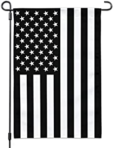 Homissor Black and White American US Garden Flag- Double Sided Recession USA Vertical Yards Flags Banner Outdoor UV Fade Resistant 12.5 x 18 Inch