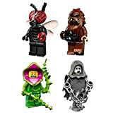 Lego Collectible Minifigures Series 14 (71010) Bundle: Square Foot, Spectre Ghost, Plant Monster, & Fly Monster