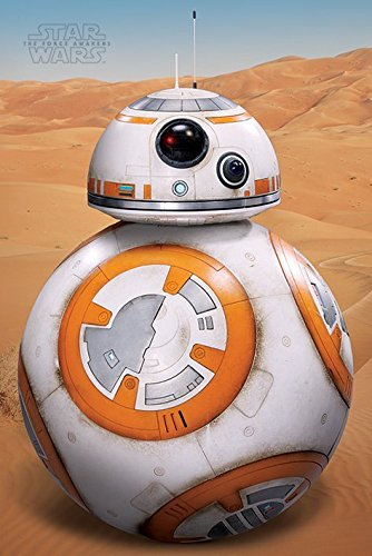 Poster Bb (Star Wars: Episode VII - The Force Awakens - Movie Poster / Print (BB-8) (Size: 24