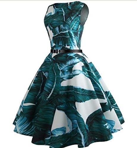 Coolred-femmes Slim Fit Audrey Des Années 1950 Hepburn Zippé Robe De Cocktail En Image