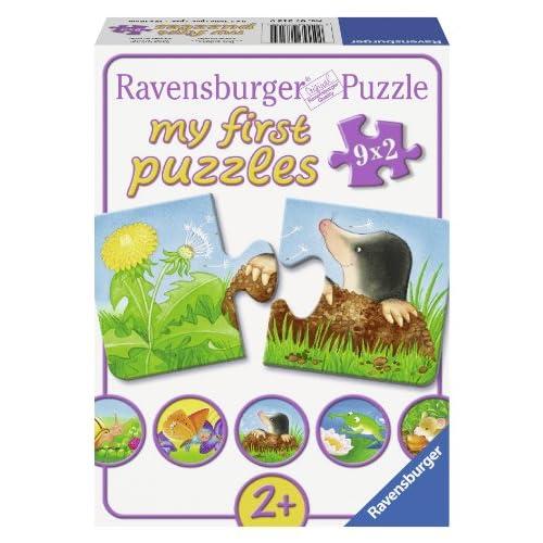 Ravensburger 07313 - Mes Premiers Puzzles - Animaux Dans Le Jardin - 9 x 2 Pièces