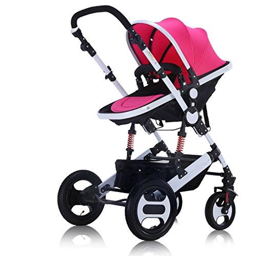 Carrito para bebés de Alta jardinería Ultraligero, portátil, bidireccional, Plegable, Paraguas para niños, Carrito,...