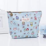 Vivi&2annie Outstanding 1Pc S\/M\/L Creative Trapezoid Zipper Bag Cartoon Portable Women Cosmetic Bag Girl Makeup Pouch Women Portable Handbag(None None 2415.58cm)