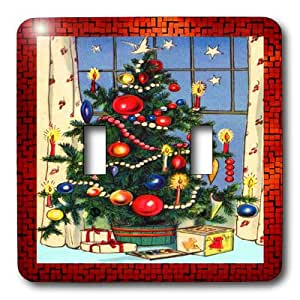 3dRose LLC lsp_8031_2 Old Fashion Christmas Tree, Double Toggle Switch