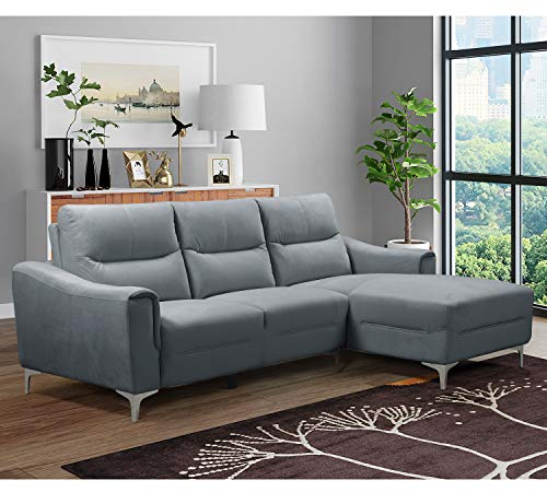 Amazon.com: AC Pacific Char Kim Sectional Sofa Chaise ...
