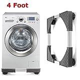 Vivona Hardware & Accessories Adjustable Undercarriage Bracket Base Stand for Washing Machine Refrigerator - (Size: 4)