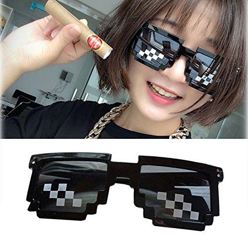 dfab5e52354 Mosaic Pixel Code Novelty Resolution Pixelated Pixel Sunglasses Cosplay  Cartoon Sunglasses   Sunglasses Accessories
