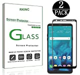 RKINC Screen Protector for LG Stylo 4, Full Coverage Tempered Glass Screen Protector [2.5D Round Edge][9H Hardness][Crystal Clear][Scratch Resist] for LG Stylo 4(2 Pack, Black)