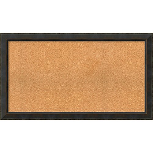 Framed Cork Board, Choose Your Custom Size, Signore Bronze Wood by Amanti Art