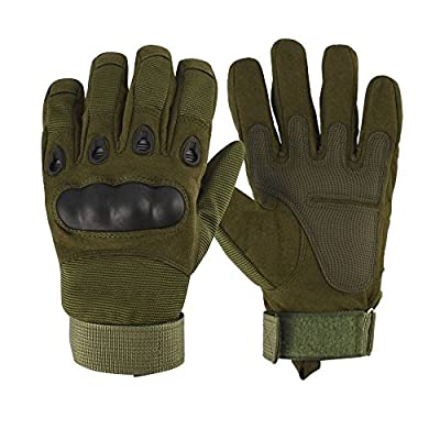 Anccion Adjustabe Full-finger Gear Tactical Military Gloves Bike gloves Cycling Gloves Shooting Airsost Hunting Riding Gloves Men/Women Work Gloves