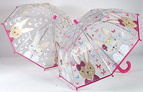 Colour Changing Umbrella - Bunny Rabbit by Floss & (Colour Changing Umbrella)