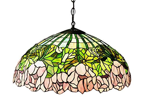 Meyda Tiffany 31144 Cabbage Rose Pendant Light Fixture, 22