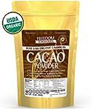 Organic Raw Cacao Powder - Best Pure & Natural Cocoa - #1 Dark Chocolate Taste - 1lb/ 16oz