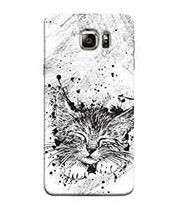 ColorKing Samsung S6 Case Shell Cover - Cat Multi Color