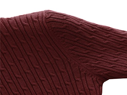 Strickjacke Wine Frauen Basic Cardigan Red-pullover Knopfverschluss