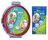 Potette Plus Travel Potty includes EXTRA 10-Pack of Liners, Green (Red): more info