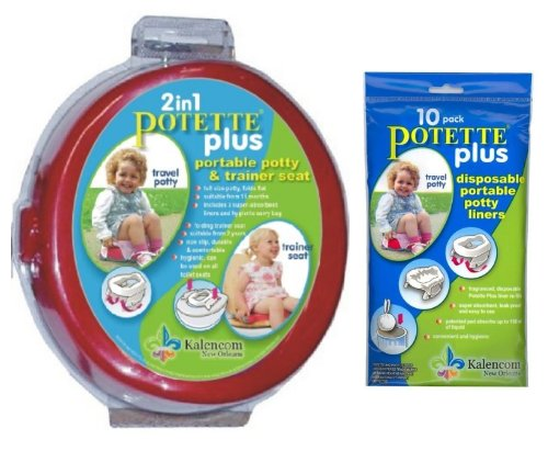 potette-plus-travel-potty-includes-extra-10-pack-of-liners-green-red