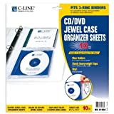C-Line CD Jewel Case Holder Binder Pages, Clear Heavyweight Vinyl, 7-7/8 x 11-1/4 Inches, 10 Pages per Box (61968)