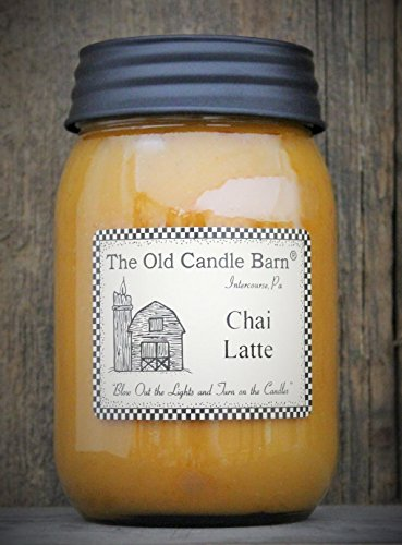 Chai Latte 16 Oz Jar Candle - Made in the USA - Blow out The Light And Turn On The Candles! (Turn Out The Lights Light A Candle)