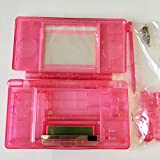 Clear Pink Housing Shell Cover Case Full Set Replacement For NDSL Nintendo DS Lite Game Console with Button Kit Full Set